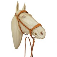Portuguese show halter in leather
